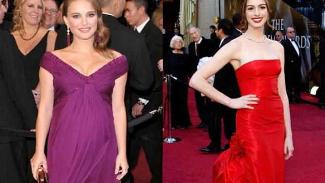 Natalie Portman dan Anne Hathaway
