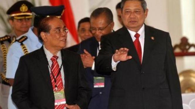 Presiden SBY dan Ketua MA Harifin Tumpa