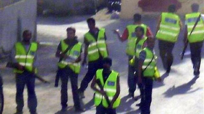 Pasukan keamanan Bahrain berpatroli di pinggir Ibukota Manama