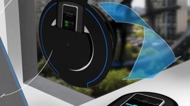 Aero E, konsep teknologi turbin angin untuk isi ulang baterai ponsel