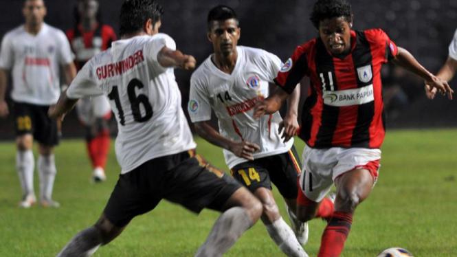 Pertandingan Persipura melawan East Bengal