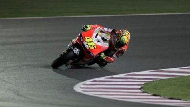 Valentino Rossi di Sirkuit Losail Qatar