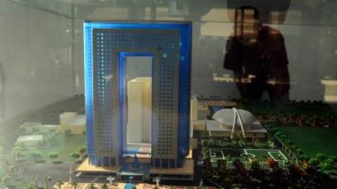Maket gedung baru DPR