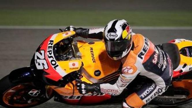 Dani Pedrosa beraksi di MotoGP Qatar