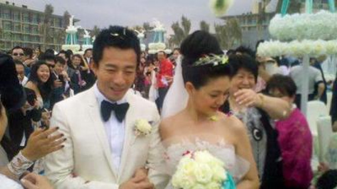 Foto Pernikahan Barbie Hsu & Wang Xiaofei