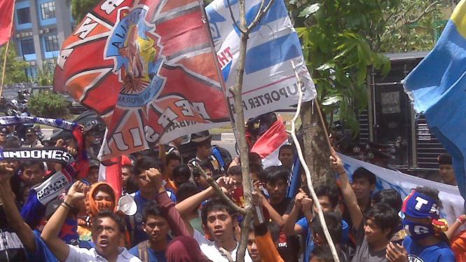 Demo PSSI di Pekanbaru
