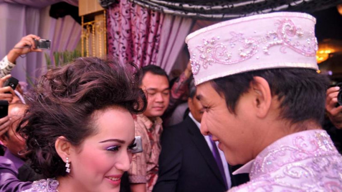 Pasha dan Adelia usai akad nikah