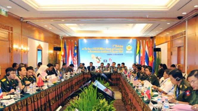 Lokakarya rancangan komite militer bersama ASEAN di Jakarta, 28-29 Maret 2011.