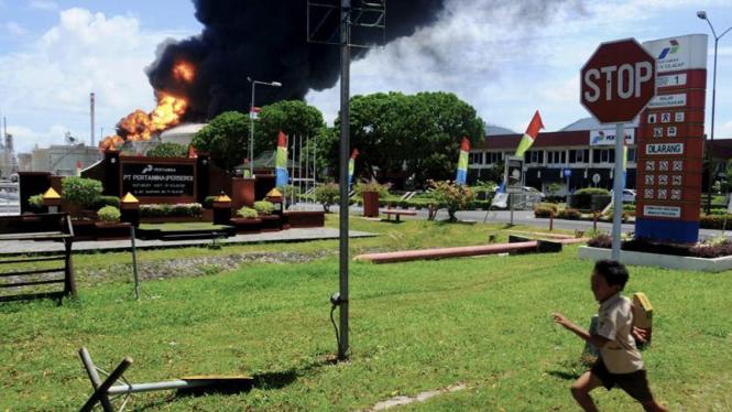 Kebakaran kilang Pertamina Cilacap
