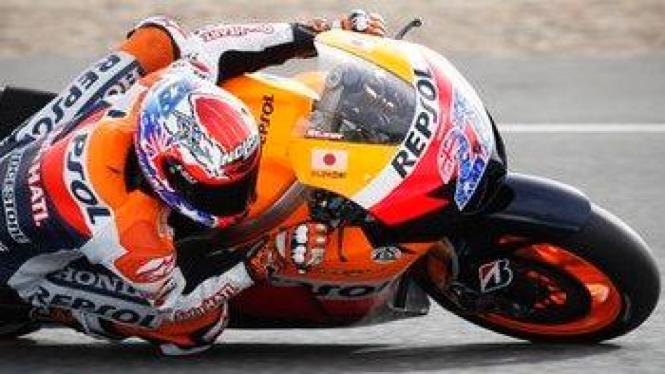 Casey Stoner di Sirkuit Jerez, Spanyol