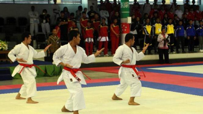 Ilustrasi Olahraga Karate.