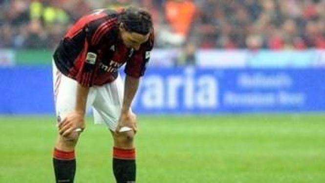Zlatan Ibrahimovic di pertandingan melawan Bari