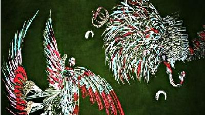 Contoh Batik Fraktal buatan Pixel People Project