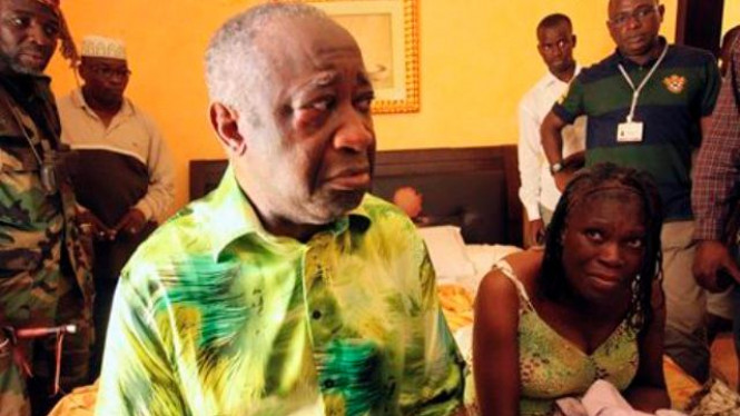 Lauren Gbagbo bersama istrinya saat ditahan