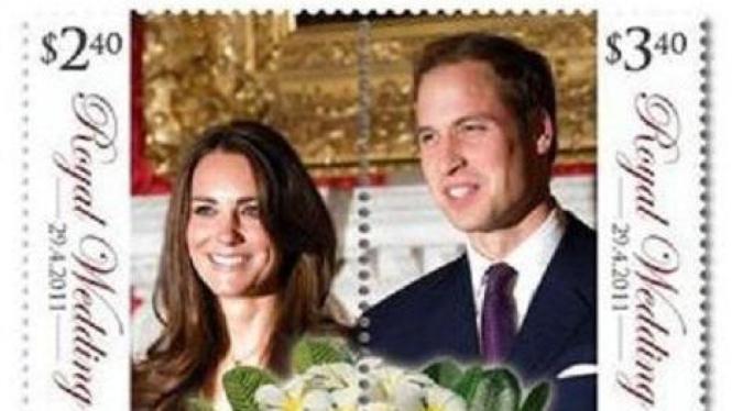 Perangko Pangeran William - Kate Middleton