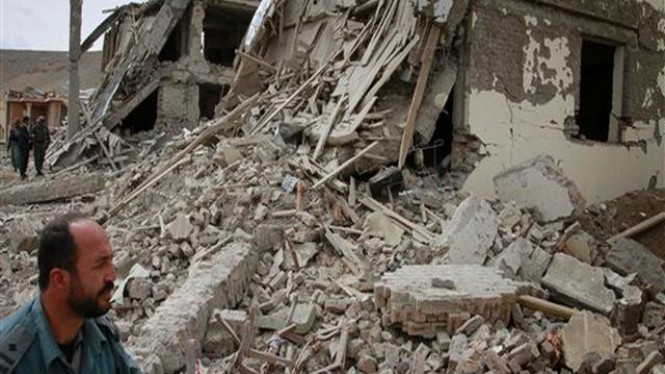 Lokasi bom bunuh diri di pinggir Kota Kabul, Afganistan
