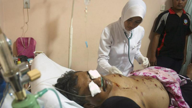 Korban ledakan bom di Cirebon