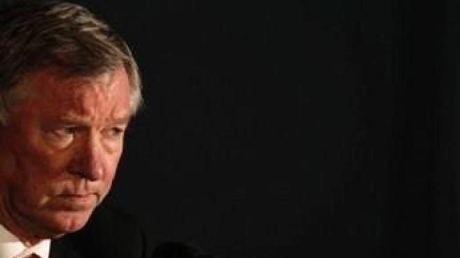 Jumpa pers Manajer MU Sir Alex Ferguson