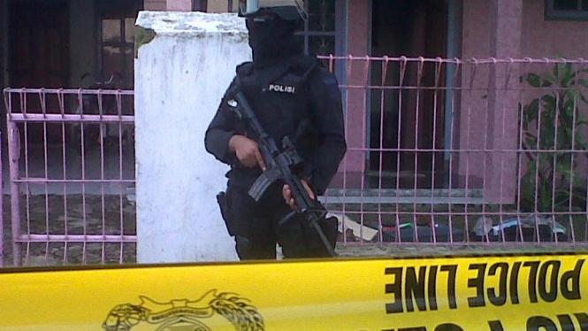 Rumah M Syarif di Majalengka, diduga pelaku bom Cirebon