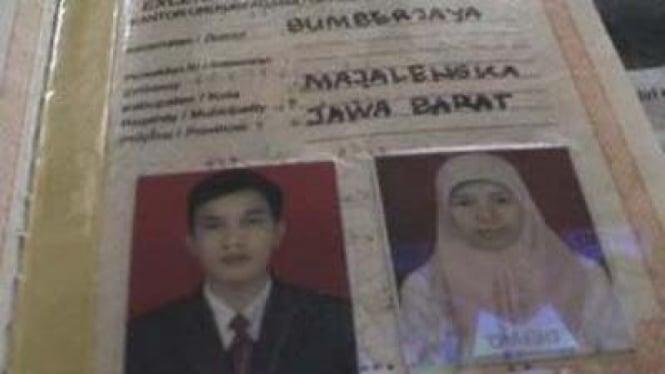 Buku nikah M Syarif, terduga pelaku bom Cirebon