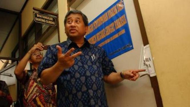 Menteri Pendidikan M Nuh inspeksi penyimpanan soal ujian nasional