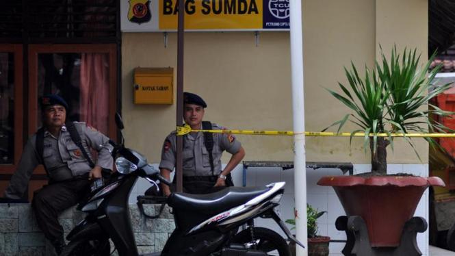 Suasana TKP Mapolresta Cirebon Paska Bom