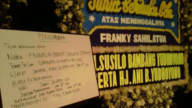 Karangan Bunga SBY