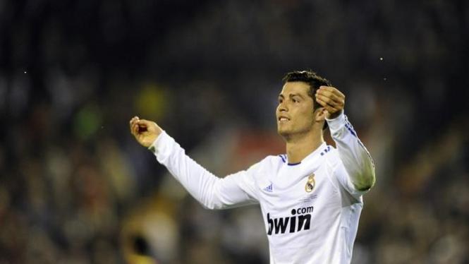 Cristiano Ronaldo dalam laga final  Copa del Rey