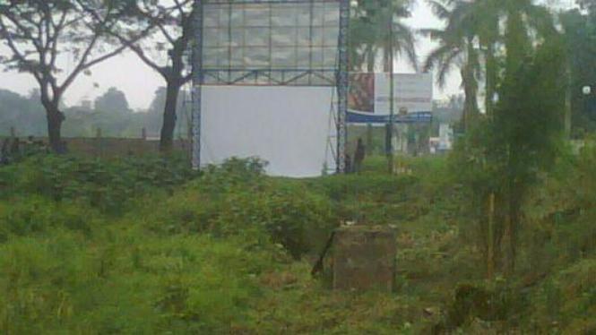 Lokasi penemuan bom di Serpong