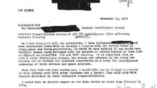 Memo CIA soal UFO