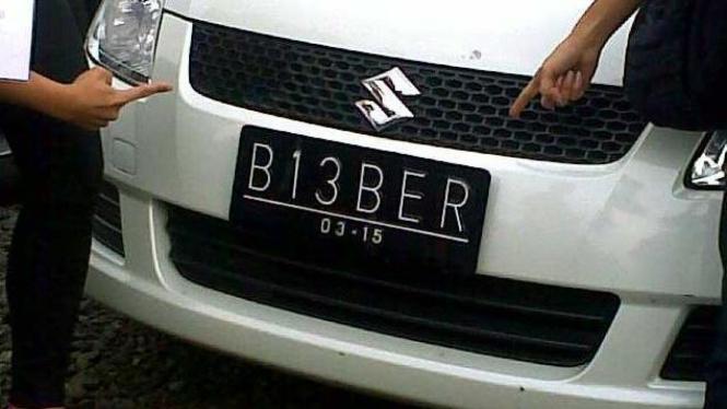 Plat B13BER milik penonton Justin Bieber