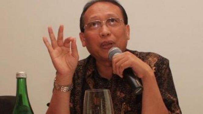Direktur Utama PT Elnusa Tbk Suharyanto jumpa pers soal rekening dibobol