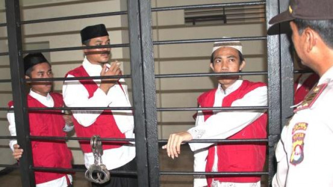 Tiga terdakwa penyerang Jemaat Ahmadiyah di Cikeusik