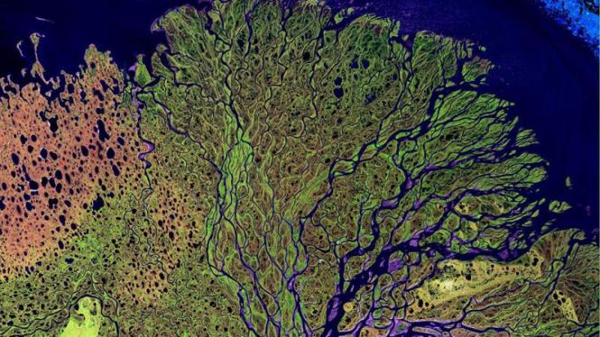 Foto permukaan bumi diambil dari luar angkasa