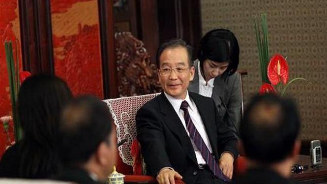 PM China, Wen Jiabao, diwawancara jurnalis Indonesia, 25 April 2011