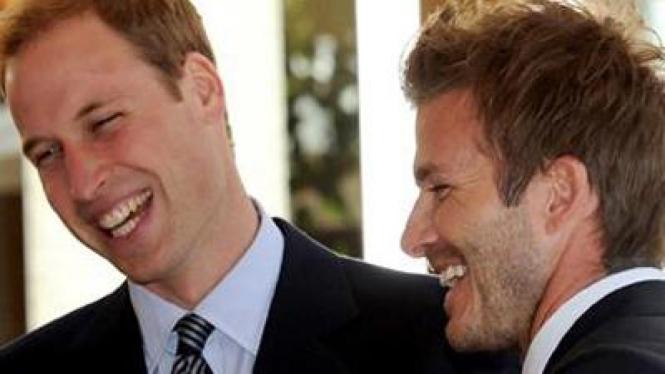 David Beckham dan Pangeran William