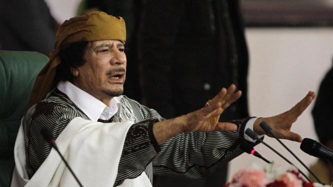 Muammar Khadafi Pemimpin Libya