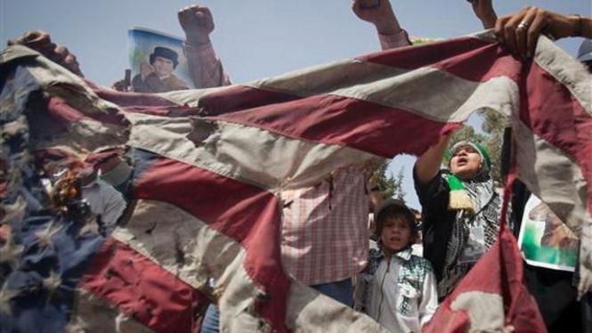 Demonstrasi anti Amerika Serikat di Tripoli, Libya