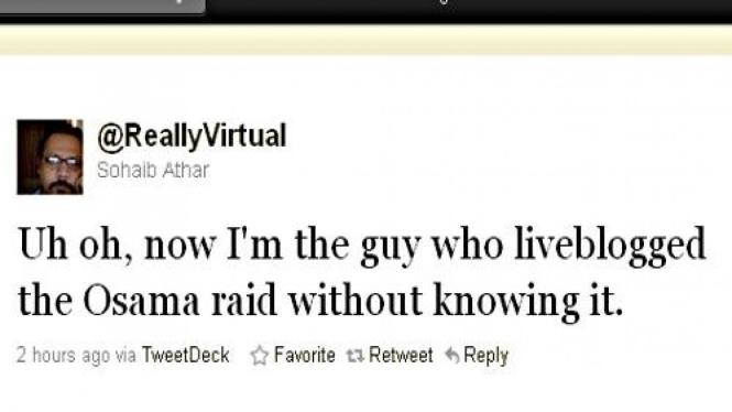 Laporan penangkapan Osama bin Laden di Twitter secara langsung