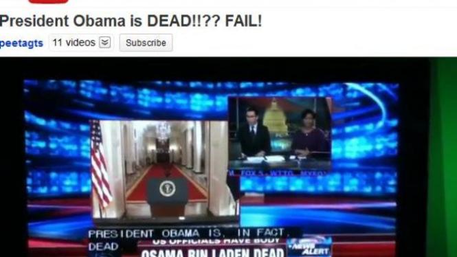 Rekaman kesalahan pembawa acara stasiun Fox News di YouTube