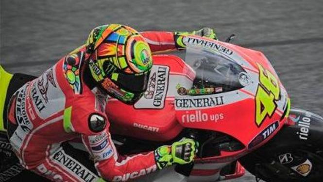 Valentino Rossi (Ducati) di Estoril