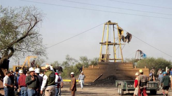 Tambang batu bara kota San Juan de Sabinas, Meksiko, yang meledak.