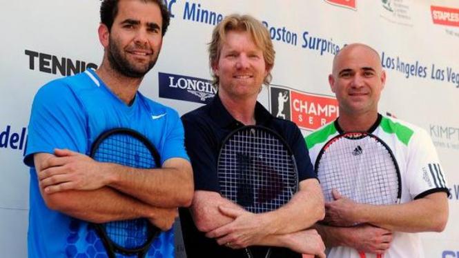 (Ki-Ka): Pete Sampras, Jim Courier dan Andre Agassi