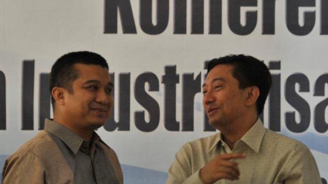 Erwin Aksa (kiri) dan Iman Arif
