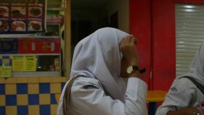 Septi, siswi SMAN di Bogor yang pernah direkrut NII (Ayatullah Humaeni, Bogor)