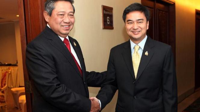 Presiden SBY dan PM Thailand, Abhisit Vejjajiva