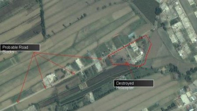 Foto Satelit rumah persembunyian Osama