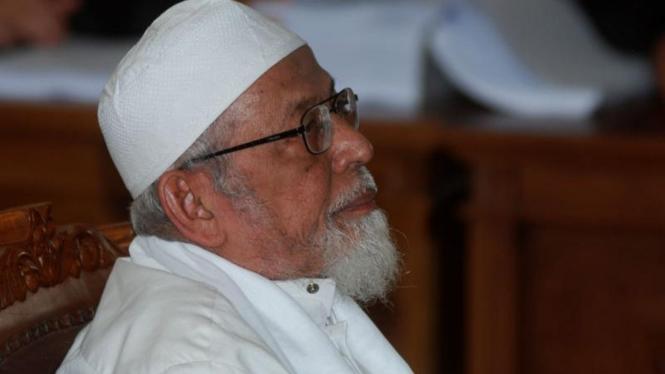 Abu Bakar Ba'asyir Dituntut Seumur Hidup