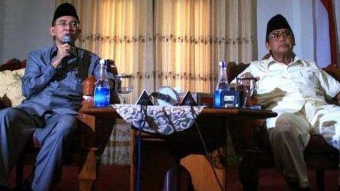 Menteri Agama Suryadharma Ali dan Pimpinan Ponpes Al Zaytun Panji Gumilang