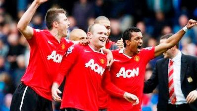 Selebrasi Pemain Manchester United